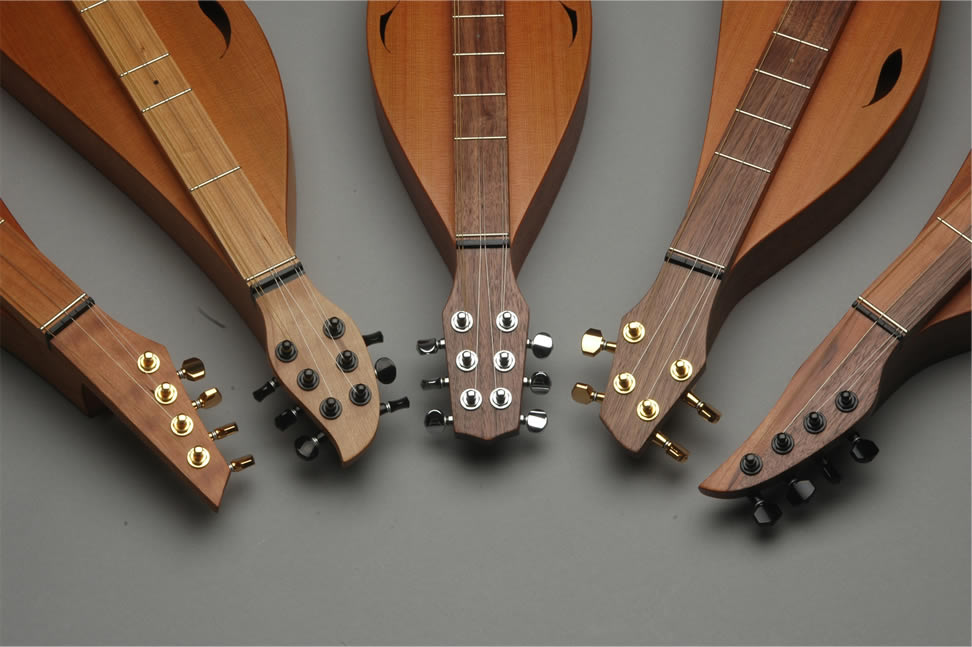 Click here for larger view of Ron Ewing's Dulcimer Head Shot - Style F, R, G, A, S